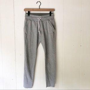 Adidas | Gray Terry Raw Hem Joggers